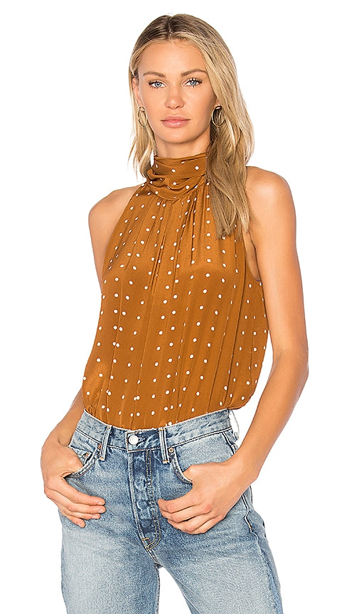 Diane von Furstenberg High Neck Tank in Brown