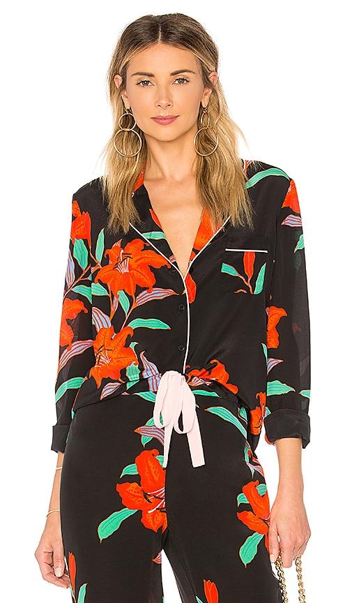 9a07469f14ac Diane von Furstenberg Pajama Top in Argos Black   Powder Pink