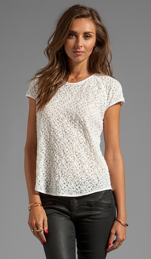 Liva Mini Leaf Lace Top