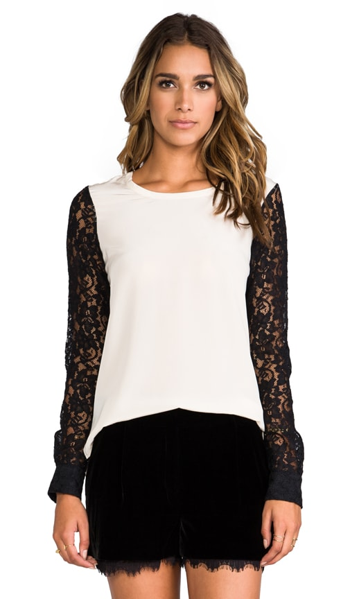 Louisa Lace Sleeve Top