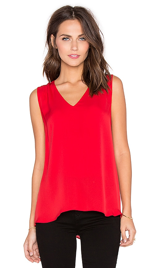 Diane von Furstenberg Sky Top in Poppy