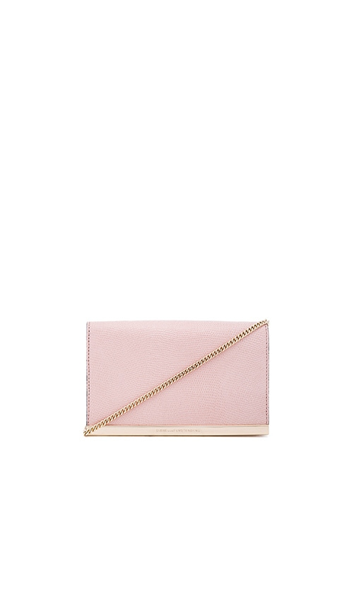 Diane von Furstenberg Soiree Shimmer Lizard Crossbody in Blush