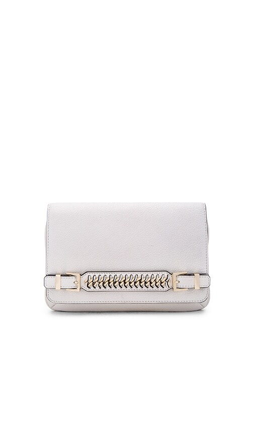 Diane von Furstenberg Iggy Clutch in Optic White