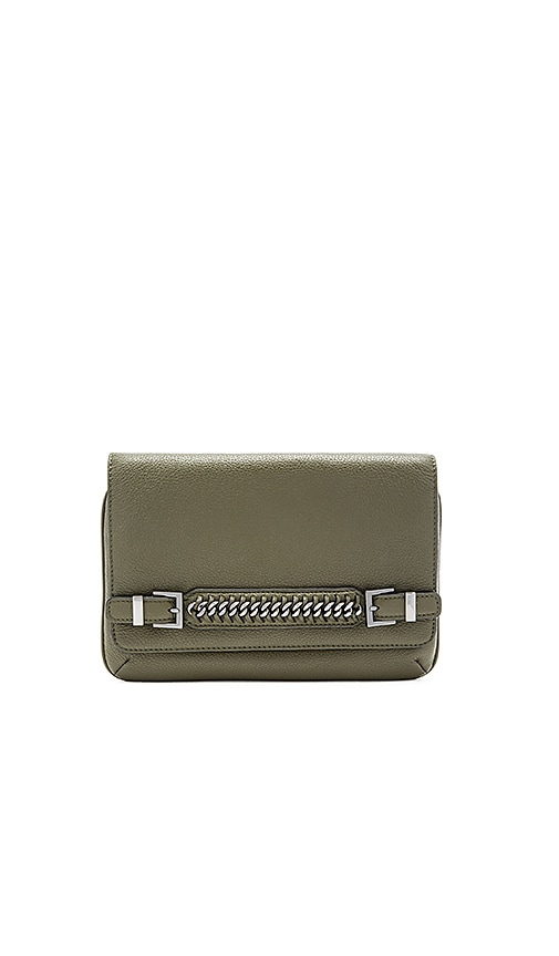 Diane von Furstenberg Iggy Clutch in Military Green