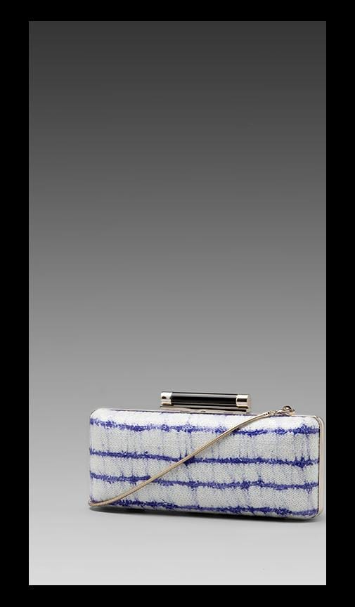 Tonda Printed Stripe Sequin Clutch