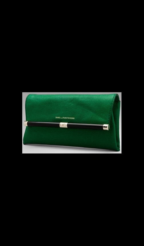 Embossed Lizard Envelope Clutch