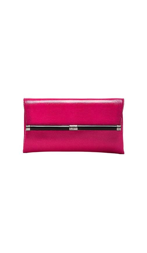 Envelope Embossed Leather Clutch