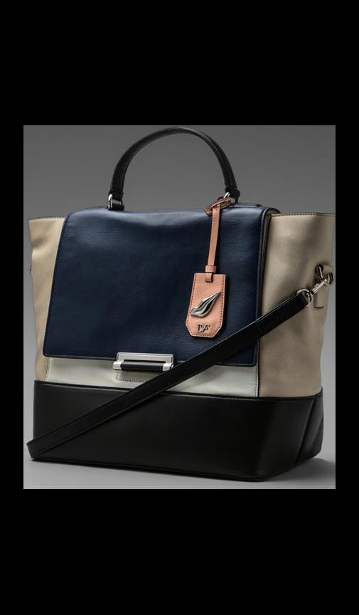 440 Top Handle Color Block Bag