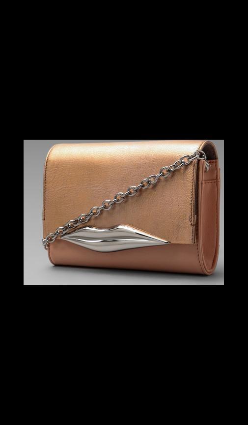 Lips Mini Soft Metallic Bag