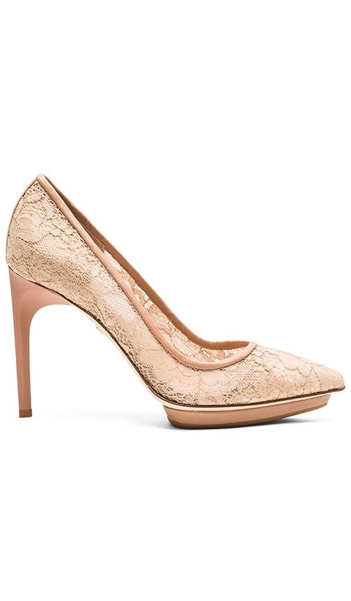 Diane von Furstenberg Madrid Heel in Beige