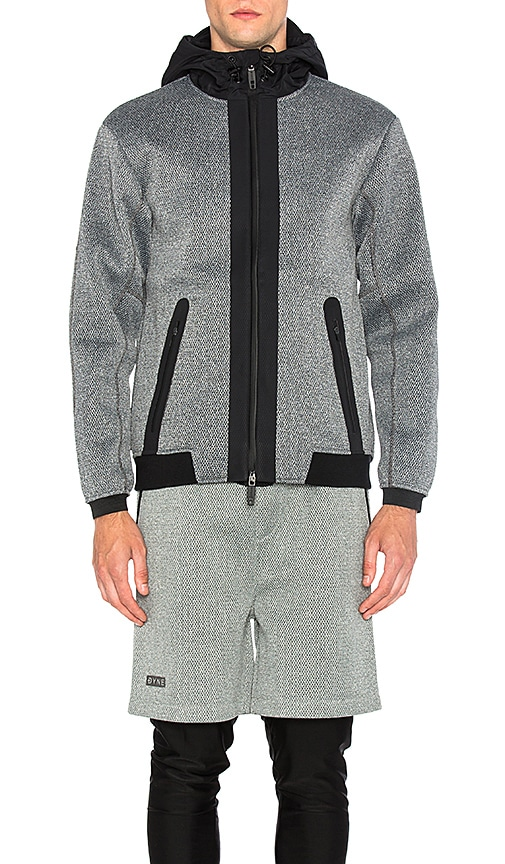 Dyne Giga Knit Hoodie in Gray