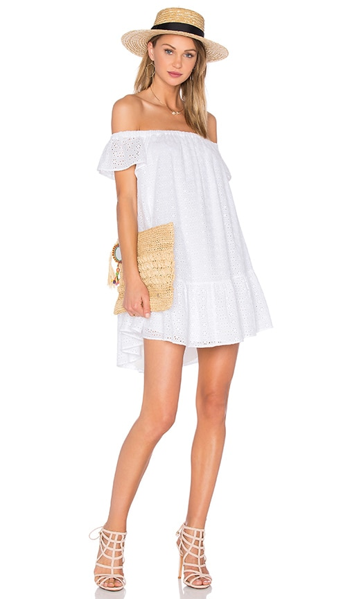 Elizabeth and James Eyelet Pippa Dress in White
