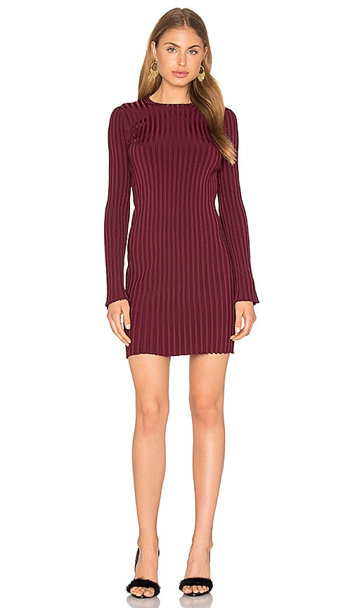 Elizabeth and James Penny Dress in Burgundy