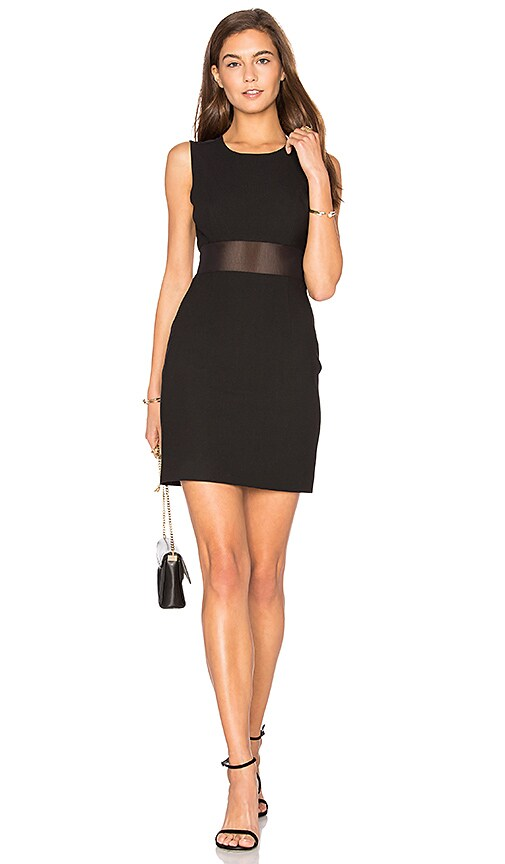 Elizabeth and James Mesh Insert Dress in Black