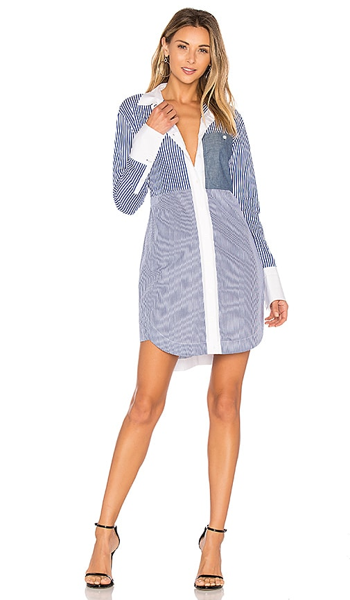 Elizabeth and James Jay Shirt Dress in Blue