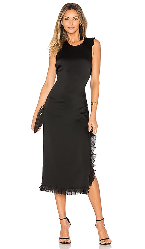 Elizabeth and James Adriene Side Split Dress in Black