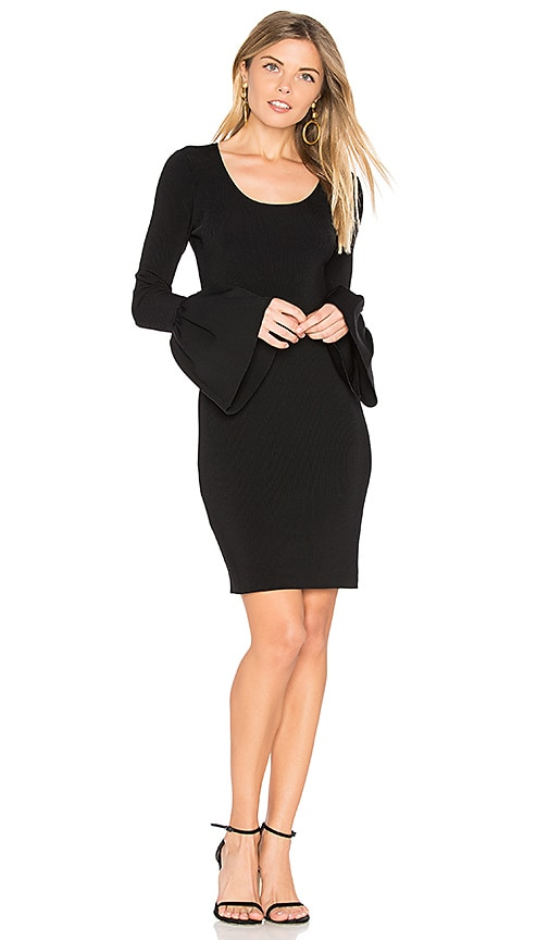 Elizabeth and James Willomina Bell Sleeved Dress in Black