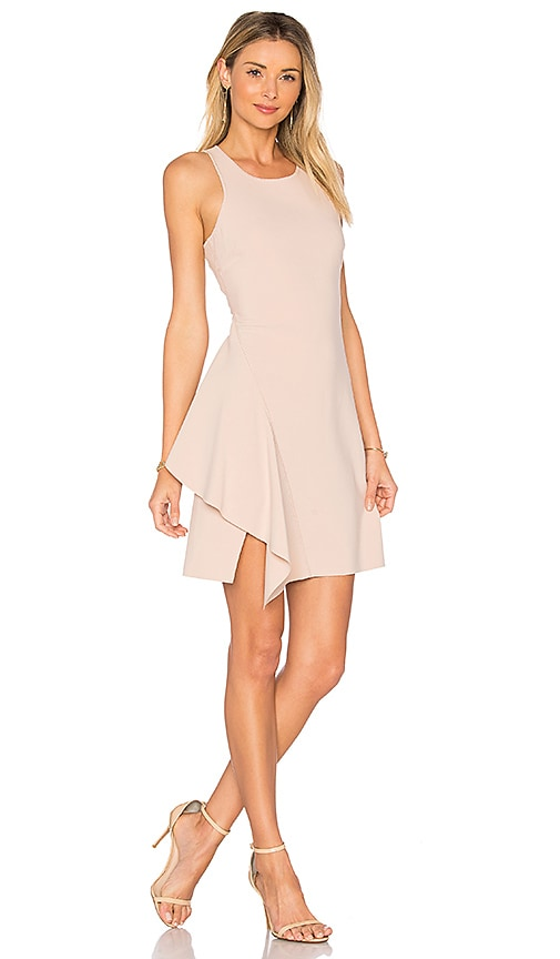 Elizabeth and James Hattie Mini Dress in Beige