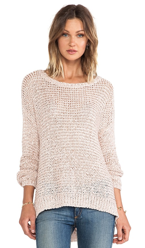 Lattice Boxy Pullover