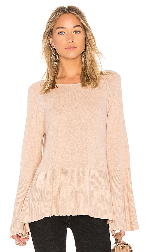 Elizabeth and James Clarette Bell Sleeve Sweater in Blush