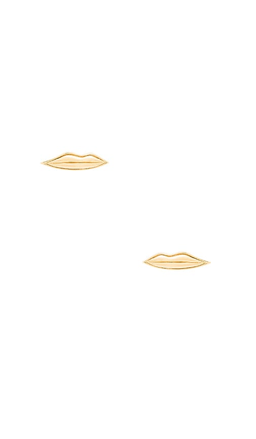 Elizabeth and James Lip Stud Earring in Metallic Gold