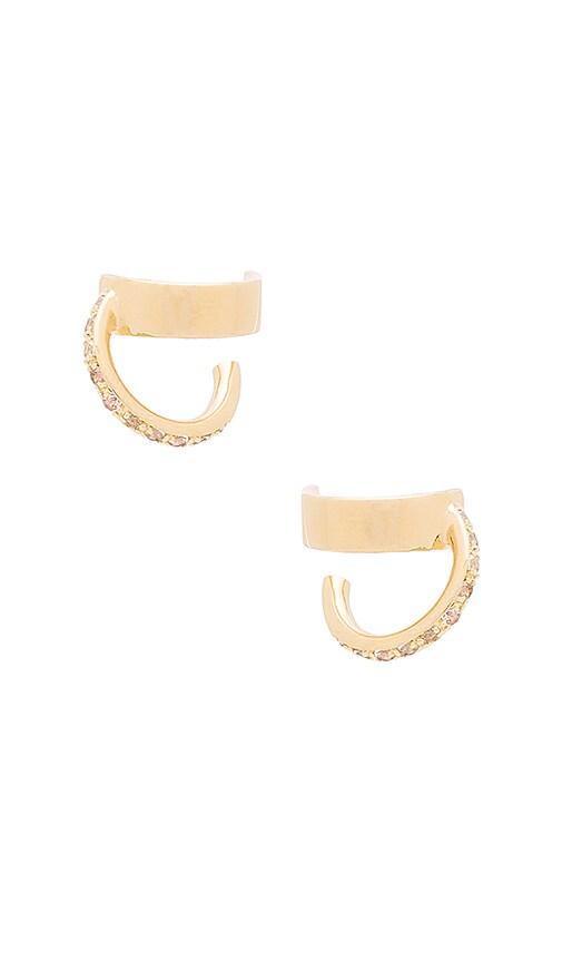 Elizabeth and James Zemi Earring in Metallic Gold