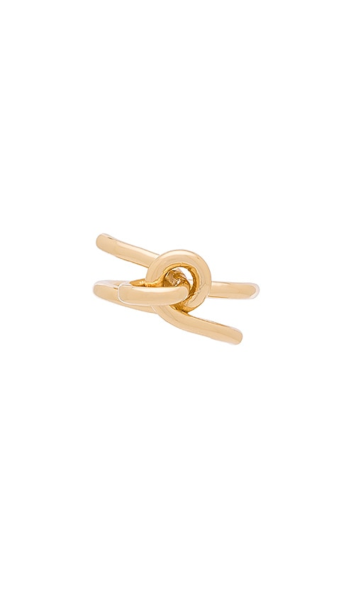 Elizabeth and James Amara Ring in Metallic Gold