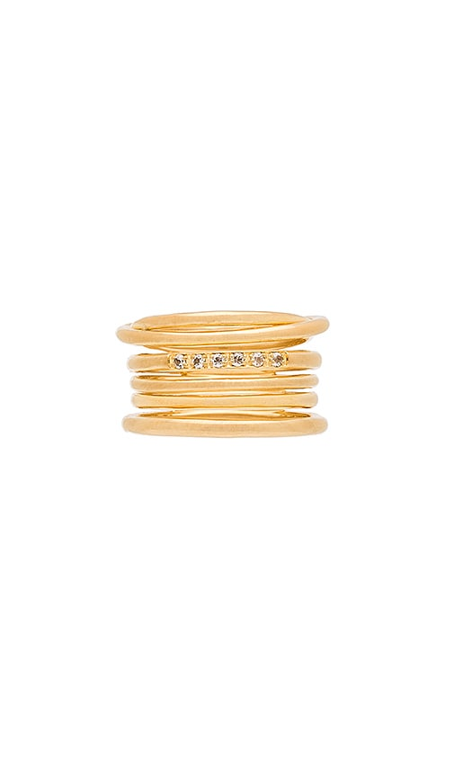 Elizabeth and James Roxy Ring in Metallic Gold