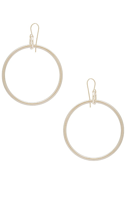 Elizabeth and James Lueur Earrings in Metallic Silver