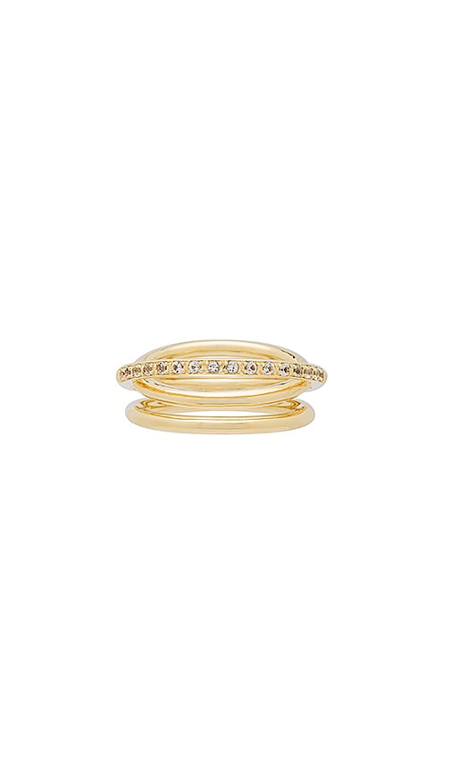 Elizabeth and James Darcy Ring in Metallic Gold