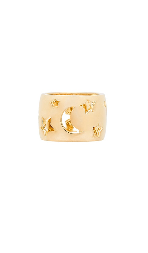 Elizabeth and James Luca Ring in Metallic Gold