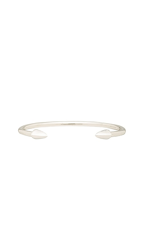 Elizabeth and James Vogel Bangle in Metallic Silver