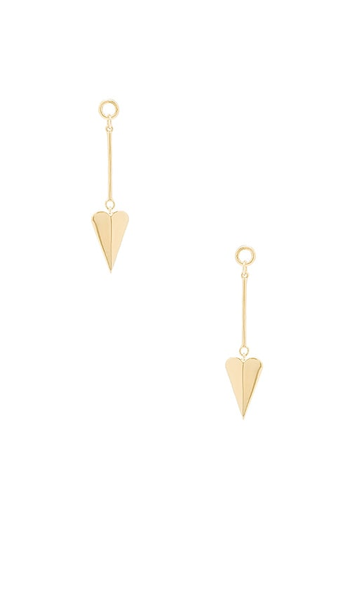 Elizabeth and James Bronte Earrings in Metallic Gold