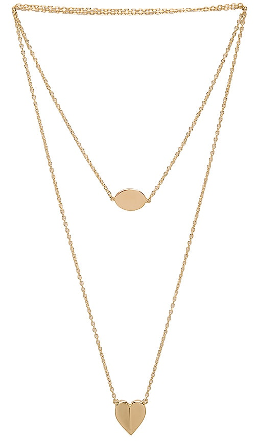Elizabeth and James Harper Necklace in Metallic Gold