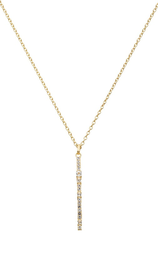 Elizabeth and James Twiggy Pendant Necklace in Yellow Gold & White Topaz