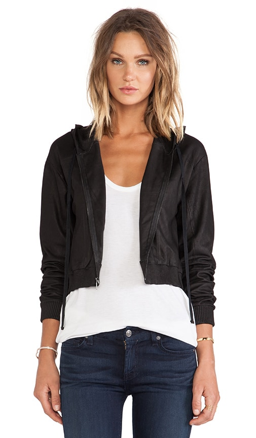 Tatum Leather Sweatshirt