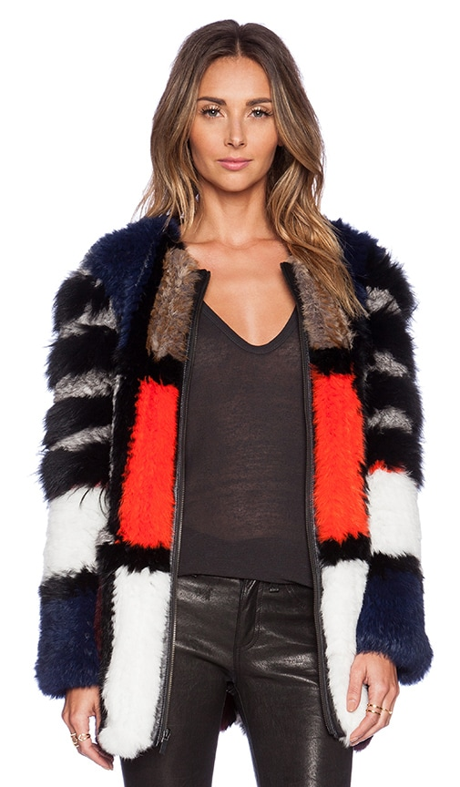 Tarra Coat with Rabbit & Coyote Fur