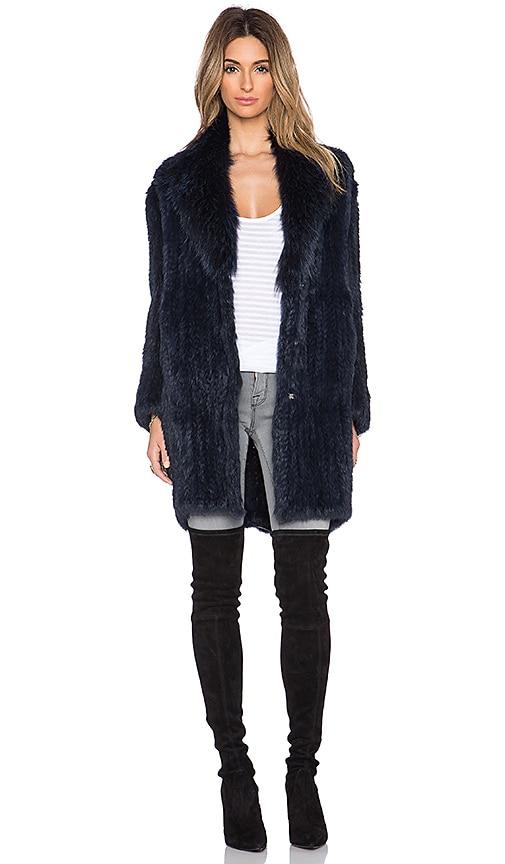 Holland Coyote and Rabbit Fur Coat