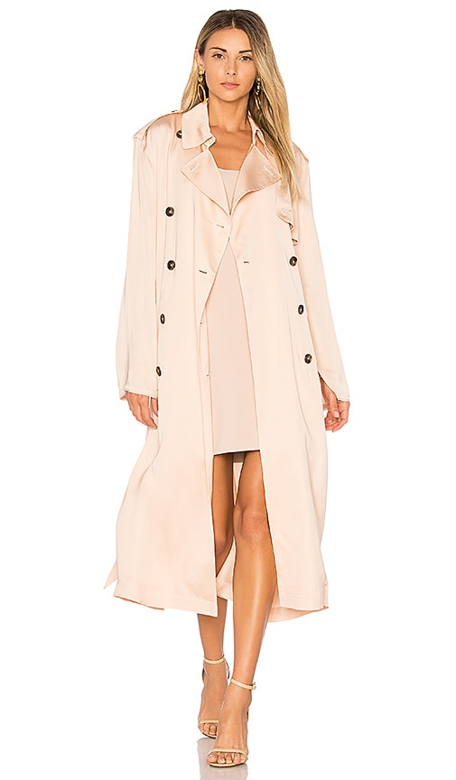 Elizabeth and James Aaron Oversized Trench Coat in Blush