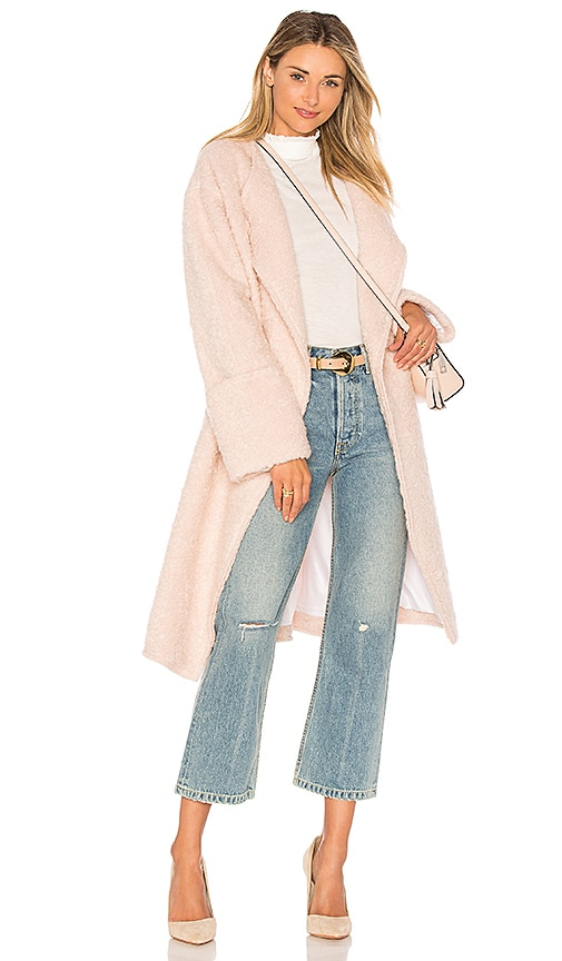 Elizabeth and James Palmoa Wool Coat in Pink