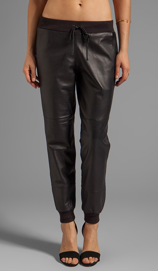 Kacey Leather Sweatpant