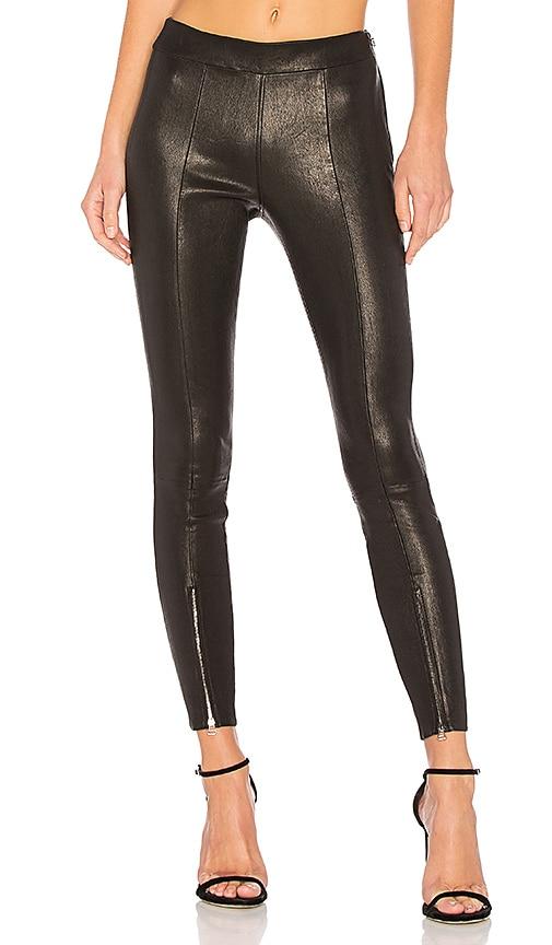 Elizabeth and James Eddine Skinny Leather Pant in Black