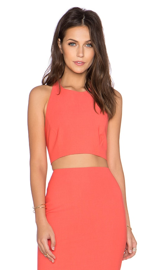 Elizabeth and James Hupton Top in Coral