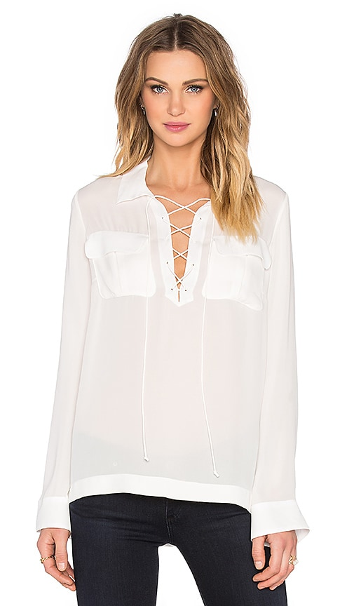 Elizabeth and James Belinda Blouse in White