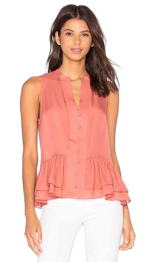 Elizabeth and James Zoe Top in Coral