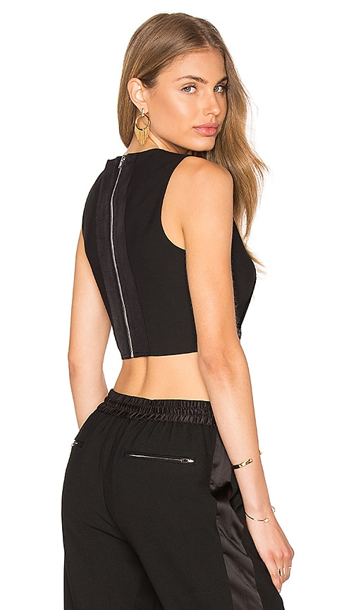 Elizabeth and James Bowen Crop Top in Black