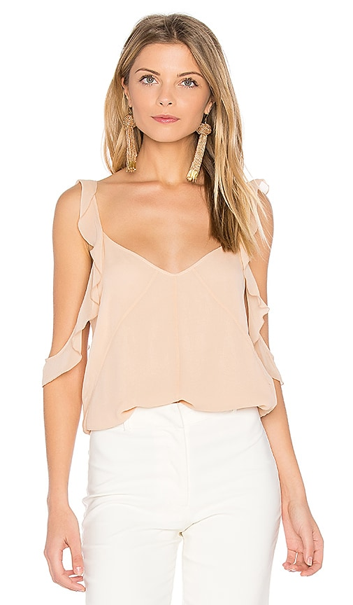 Elizabeth and James Cheryl Ruffle Tank in Blush