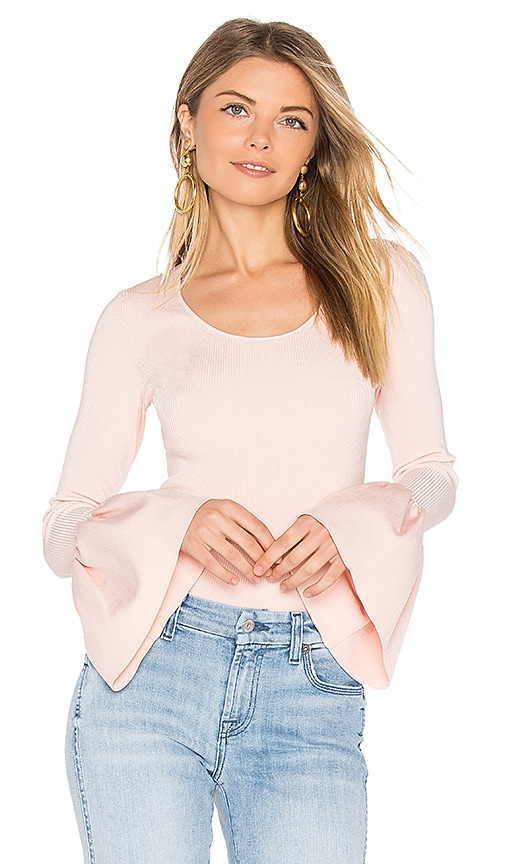 Elizabeth and James Willow Bell Sleeved Top in Pink