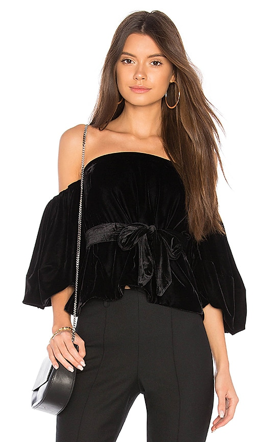 Elizabeth and James Simmy Top in Black
