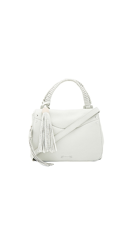 Elizabeth and James Trapeze Crossbody in Light Gray